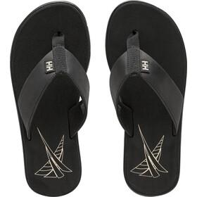 Helly Hansen Seasand Leather Sandals Women, black/shell/fallen rock